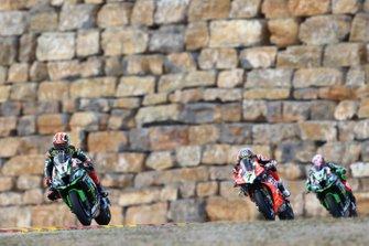 Jonathan Rea, Kawasaki Racing, Chaz Davies, Aruba.it Racing-Ducati Team, Leon Haslam, Kawasaki Racing