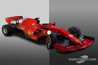 Ferrari SF71H vs. SF90 comparison