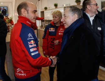 Jean Todt, FIA President visit the Citroën World Rally Team with Pierre Budar, Director of Citroën Racing