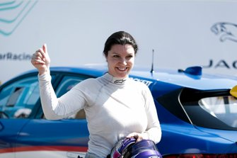 La vincitrice della gara Katherine Legge, Rahal Letterman Lanigan Racing