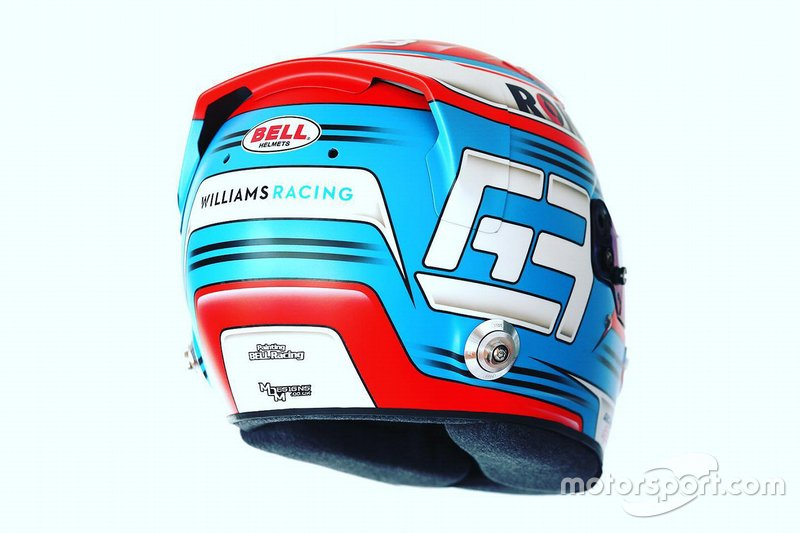 Casque de George Russell, Williams