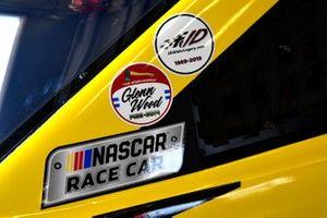 Joey Logano, Team Penske, Ford Mustang Shell Pennzoil Glen Wood decal