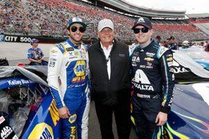 Chase Elliott, Hendrick Motorsports, und William Byron, Hendrick Motorsports, mit Rick Hendrick