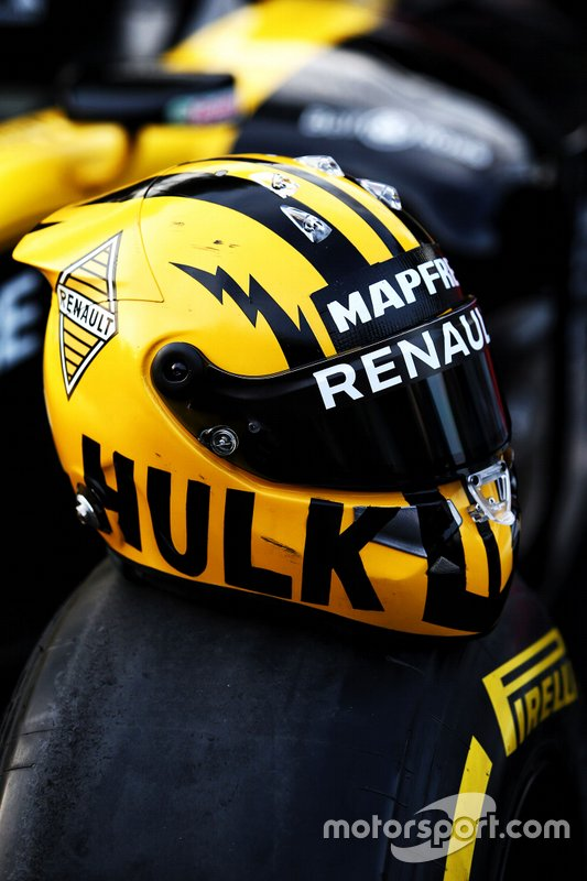 Il casco di Nico Hulkenberg, Renault F1 Team