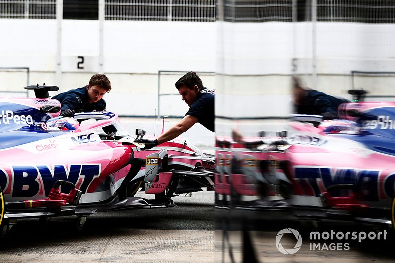 Sergio Perez, Racing Point F1 Team RP19 riflesso