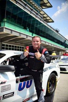 Jordan Bupp celebrates his TA2 victory
