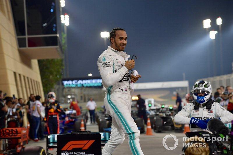 Lewis Hamilton, Mercedes AMG F1, ganador en Parc Ferme