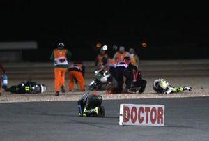 Nicolo Bulega, Sky Racing Team VR46 Iker Lecuona, Swiss Innovative Investors crash