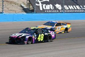 Jimmie Johnson, Hendrick Motorsports, Chevrolet Camaro Ally, Ricky Stenhouse Jr., Roush Fenway Racing, Ford Mustang SunnyD