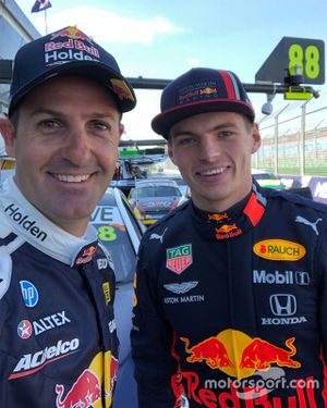Jamie Whincup, Triple Eight Race Engineering Holden, Max Verstappen, Red Bull Racing