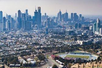 La ville de Melbourne derrière le circuit