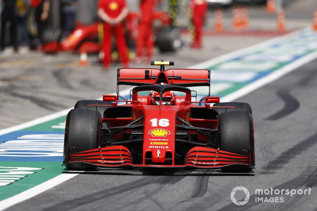 Charles Leclerc, Ferrari SF1000, va in pista