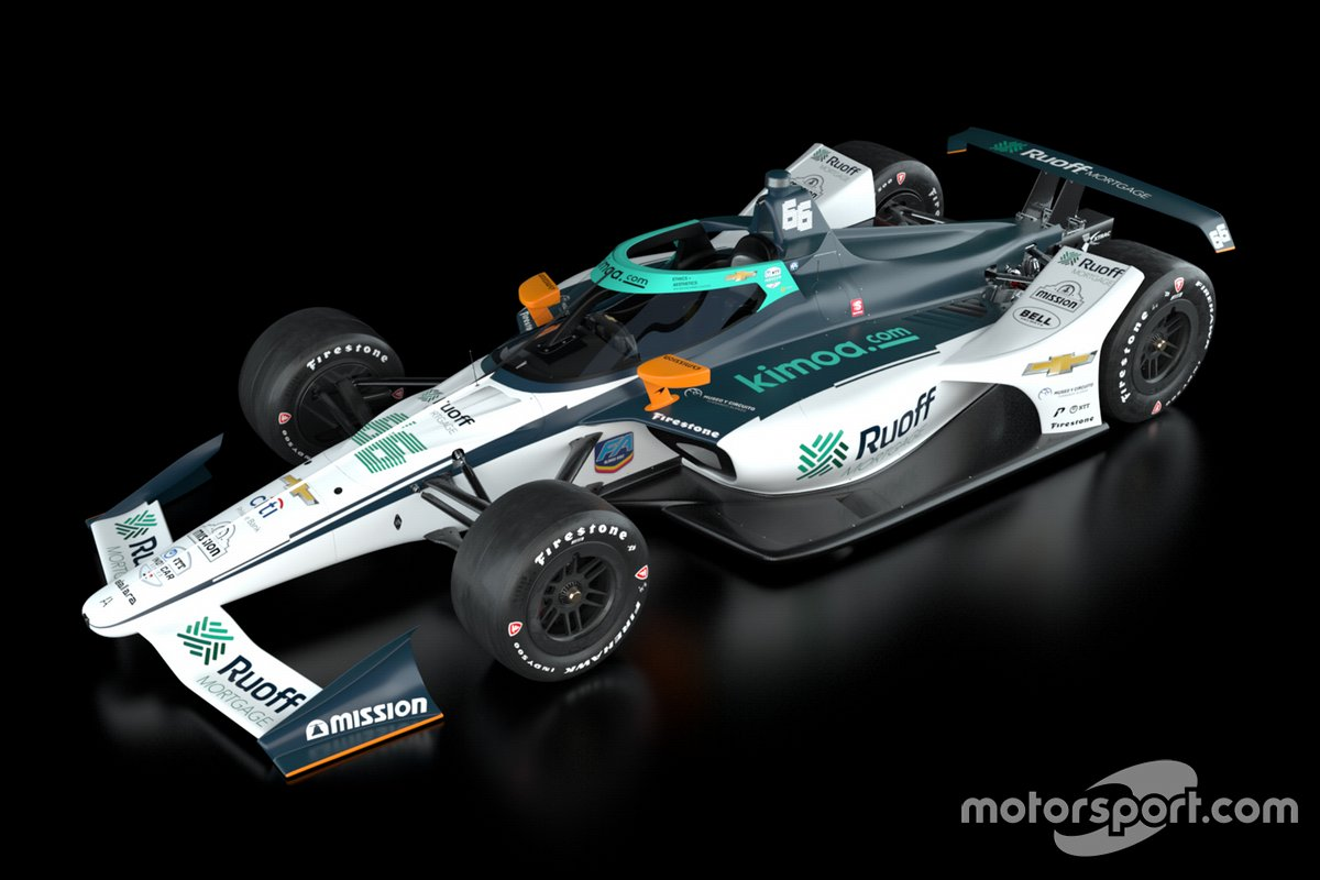 Машина Фернандо Алонсо, No. 66 Ruoff Mortgage Arrow McLaren SP Chevrolet