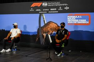 Valtteri Bottas, Mercedes AMG F1 and Lewis Hamilton, Mercedes AMG F1 in the press conference