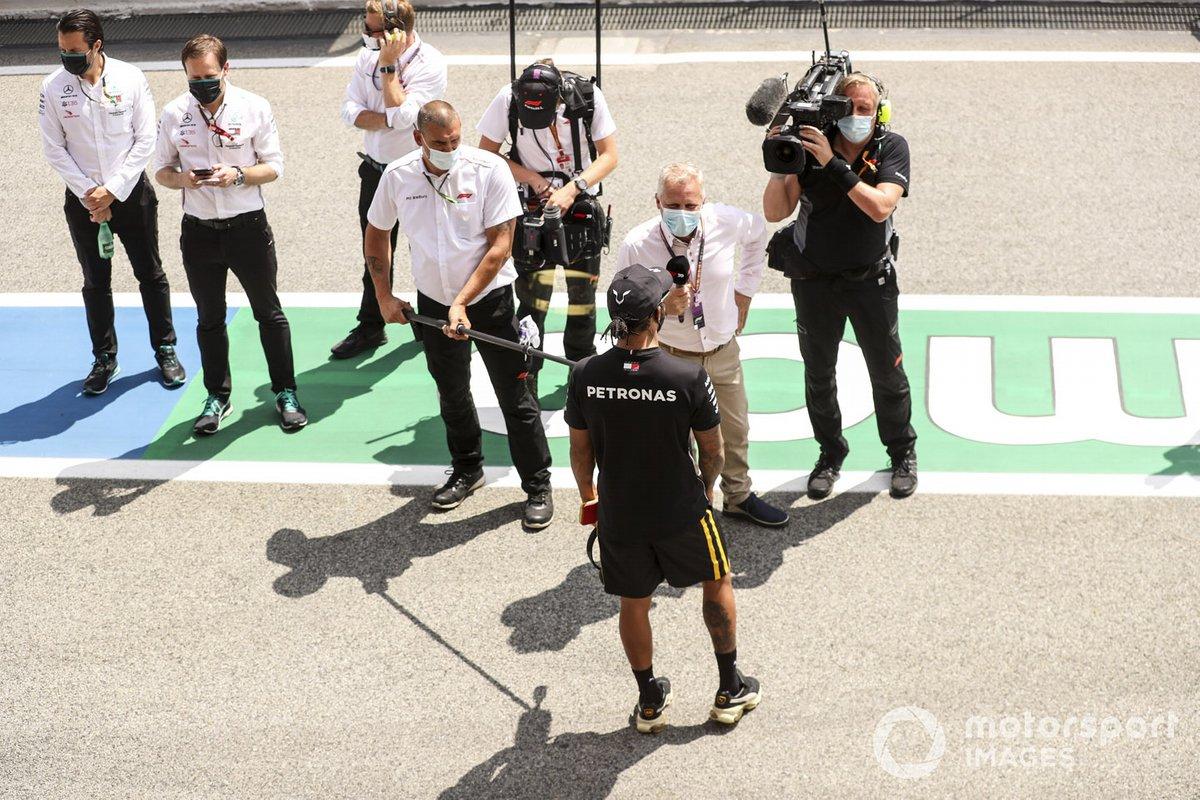 Johnny Herbert, Sky TV, entrevista a Lewis Hamilton, Mercedes-AMG Petronas F1