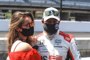 Marco Andretti, Andretti Herta with Marco & Curb-Agajanian Honda celebrates winning the NTT P1 Pole Award