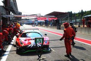 #51 AF Corse Ferrari F488 GTE EVO: Christoph Ulrich, Alexander West, Steffen Görig