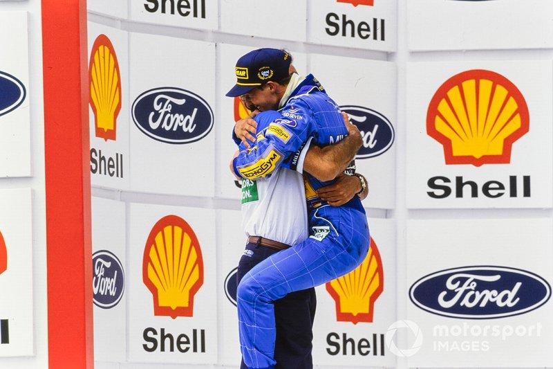 Michael Schumacher, Benetton with team manager Flavio Briatore