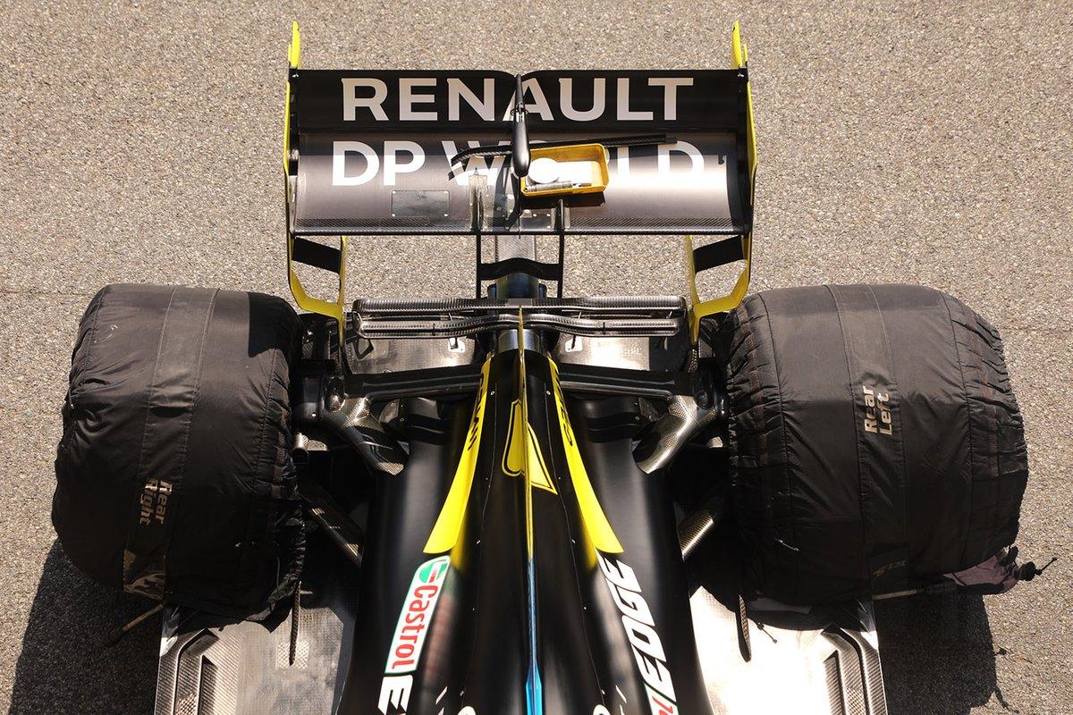 Detalle del alerón trasero del Renault F1 Team R.S.20