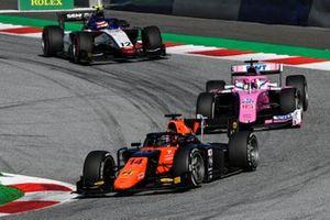 Nobuharu Matsushita, MP Motorsport, leads Artem Markelov, BWT HWA Racelab, and Pedro Piquet, Charouz Racing System