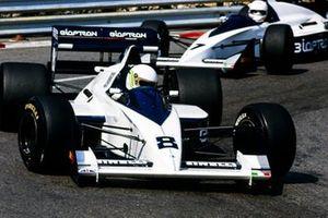 Stefano Modena, Brabham BT58 Judd, leads Martin Brundle, Brabham BT58 Judd