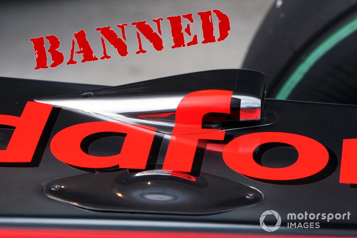 McLaren MP4/25 detalle del conducto F