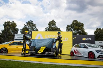 Esteban Ocon, Renault F1 and Daniel Ricciardo, Renault F1 reveal the livery for their Renault F1 Team R.S.20