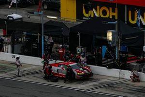 #30 Team Hardpoint Audi R8 LMS GT3, GTD: Rob Ferriol, Spencer Pumpelly, Pit Stop