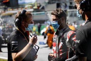 Romain Grosjean, Haas F1, on the grid