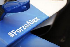 Schriftzug: #ForzaAlex