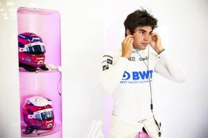 Lance Stroll, Racing Point in the garage