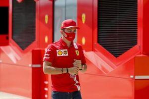 Charles Leclerc, Ferrari in the paddock