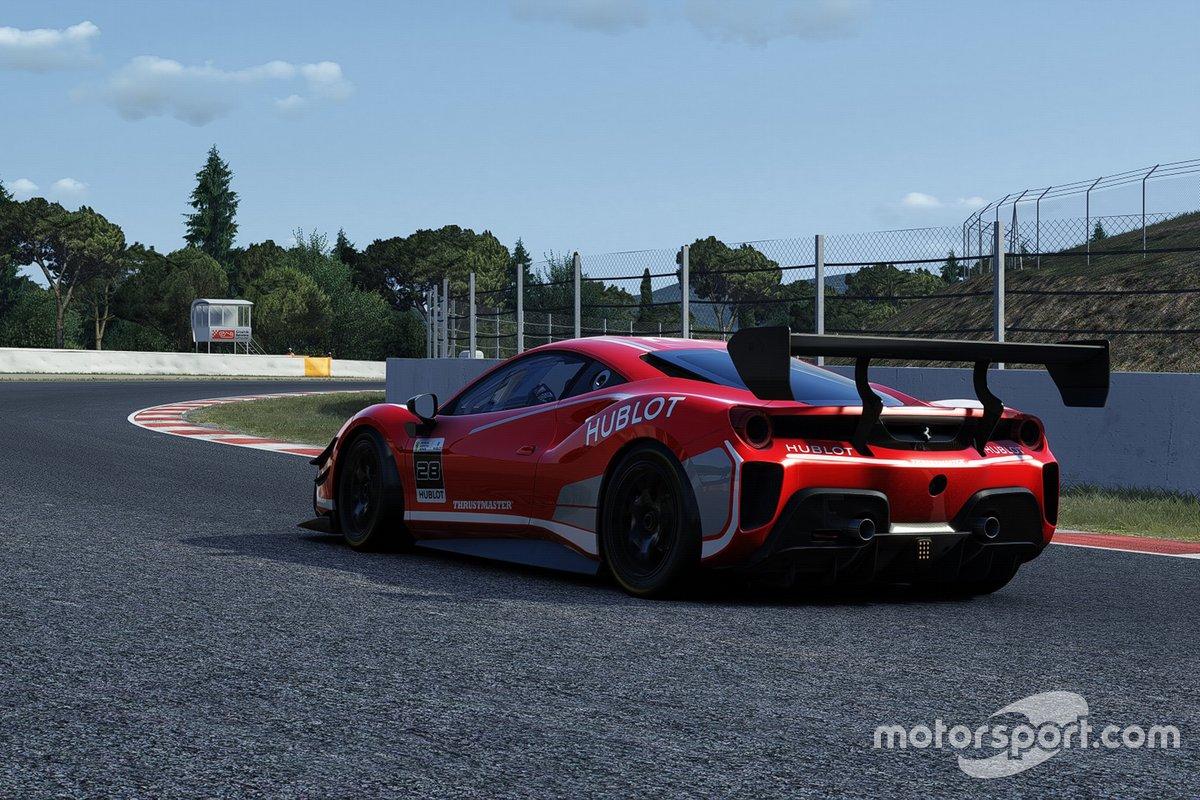 Ferrari 488 Challenge Evo в виртуальных гонках