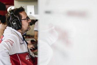 Julien Simon-Chautemps, ingénieur de course de Kimi Räikkönen, Alfa Romeo