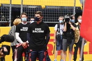 Romain Grosjean, Haas F1, en Max Verstappen, Red Bull Racing