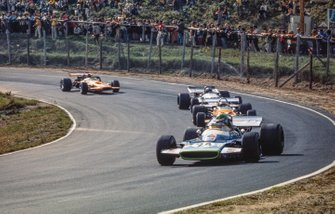 Henri Pescarolo, Matra MS120, Peter Gethin, McLaren M14A Ford, Jean-Pierre Beltoise, Matra MS120 y Andrea de Adamich, McLaren M14D Alfa Romeo