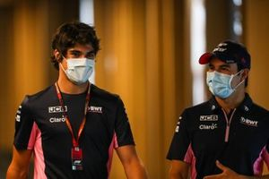 Lance Stroll, Racing Point, e Sergio Perez, Racing Point
