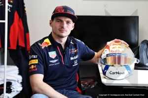 Max Verstappen, Red Bull Racing with his helmet