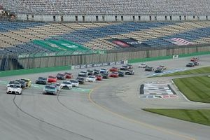 The field of Nascar Xfinity cars before the start of the race