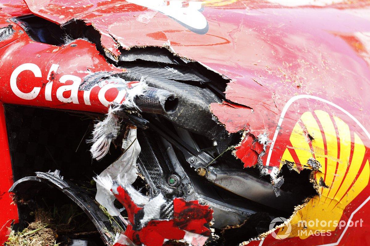 Daños en el coche de Kimi Raikkonen, Ferrari SF-15T