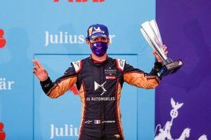 Jean-Eric Vergne, DS Techeetah fête sa troisième place sur le podium