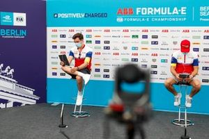Alex Lynn, Mahindra Racing, Jérôme d'Ambrosio, Mahindra Racing in the press conference