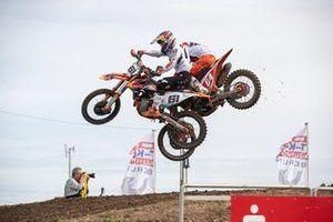 Jeffrey Herlings en Jorge Prado crashen tijdens de MXGP van Duitsland