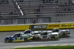 Todd Gilliland, Front Row Motorsports, Ford F-150 Speedco, Johnny Sauter, ThorSport Racing, Toyota Tundra All American Quarter Horse Congress/Tenda, Christian Eckes, ThorSport Racing, Toyota Tundra Curb Records, Ben Rhodes, ThorSport Racing, Toyota Tundra Bombardier LearJet 75