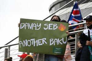 Steun van het publiek voor Sebastian Vettel, Aston Martin