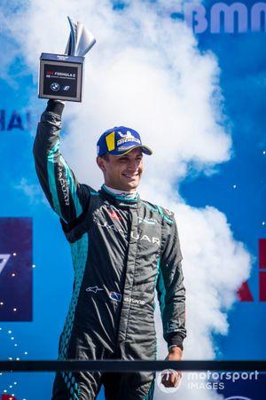 Mitch Evans, Jaguar Racing, 3rd position, on the podium
