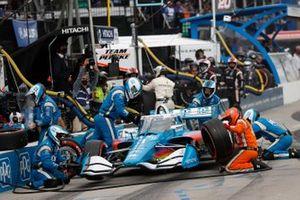 Scott McLaughlin, Team Penske Chevrolet, fait un arrêt