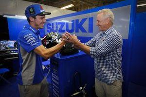 Joan Mir, Team Suzuki MotoGP, mit Kevin Schwantz