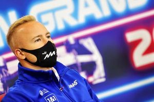 Nikita Mazepin, Haas F1, in de persconferentie