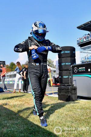 Valtteri Bottas, Mercedes, on the grid